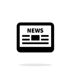 Online news application icon on white background vector