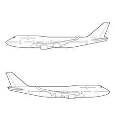 outline drawing large modern aircraft vector image