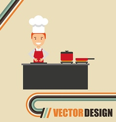professional chef design vector image