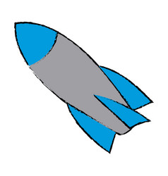 rocket start up launch innovation vector image