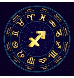 Sagittarius in circle vector