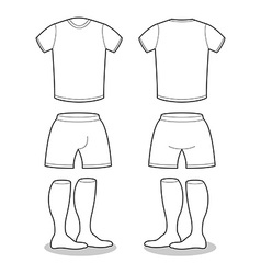 Sample for sports clothing soccer T-shirt shorts vector image