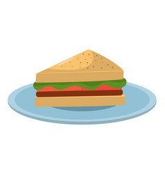 sandwich healthy food vector image