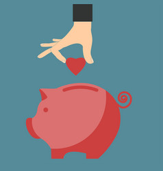 saving love heart vector image