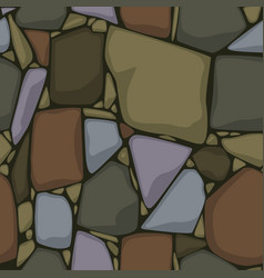 seamless stone texture colored stones background vector image