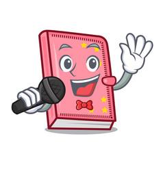 Singing diary mascot cartoon style vector