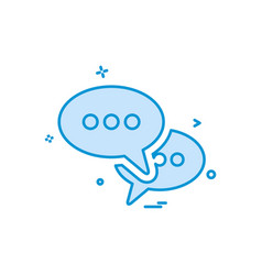 sms talk buble icon design vector image