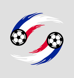 soccer or football with fire tail in france flag vector image