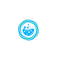 Splash laundry logo icon design vector