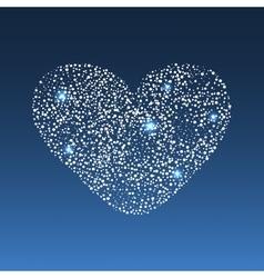 Star diamond heart vector