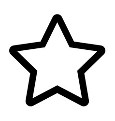 star silhouette isolated icon vector image