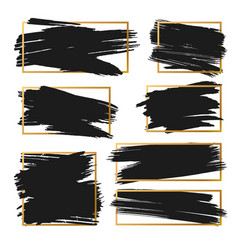 strokes abstract backhground set black vector image