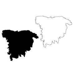 Sylhet division map vector