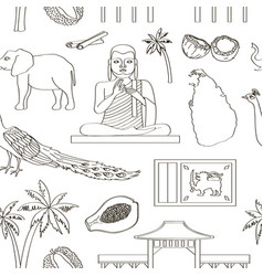 symbols sri lanka icons pattern vector image