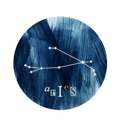 the aries constellation vector image