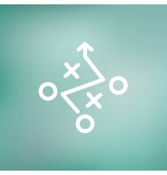Tic-tac-toe game thin line icon vector image