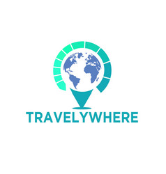 travel world logo designs simple vector image