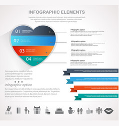 valentines day heart infographics vector image