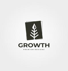 Vintage arrow tree logo symbol design vector