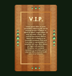 Vip invitation the certificate with jewel vector