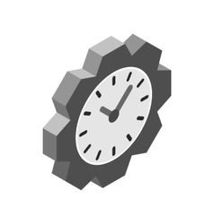 Wall clock icon isometric 3d style vector