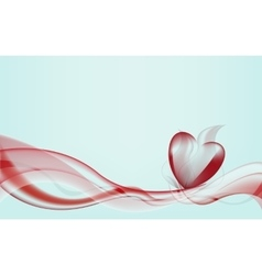 waves forming heart vector image