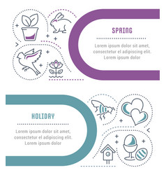 website banner and landing page spring time vector image