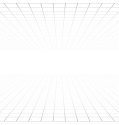 white background light gray grid perspective vector image