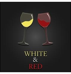 Wine menu two glasses design background vector