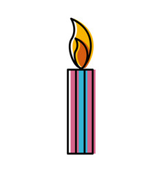 candle isolated symbol vector image vector image