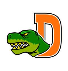 dinosaur initial vector image