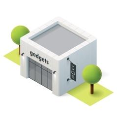 isometric gadget shop vector image vector image