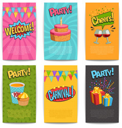 Party Comic Posters vector image