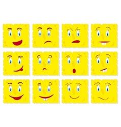 Piece of cheese cookies cartoon set vector image vector image