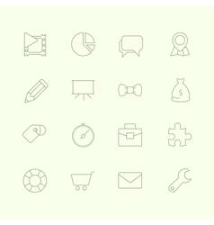 Thin SEO Icons Vol 2 vector image vector image