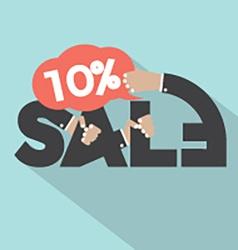 10 percent discount typography design vector