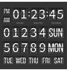 Airport timer counter digital clock flip vector