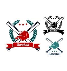 Baseball symbols vector image