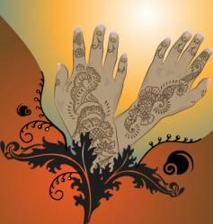 henna vector image vector image
