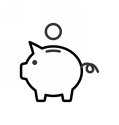 Piggy Bank outline icon vector image