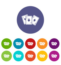 Playing cards set icons vector