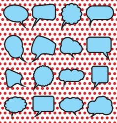 speech bubles simpe4 vector image