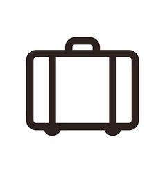 Suitcase - travel icon vector image vector image