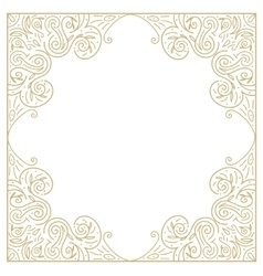 Vintage gold background ornamental hand draw vector image vector image