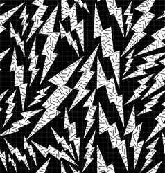 Bolt retro seamless pattern in black and white vector image vector image