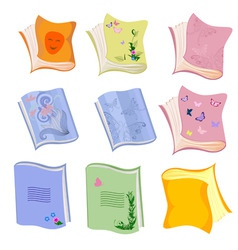book school notebook vector image