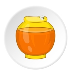 Jar of honey icon cartoon style vector image vector image
