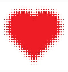 red Heart on canvas texture vector image