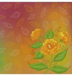 Flowers and leafs contours vector image vector image