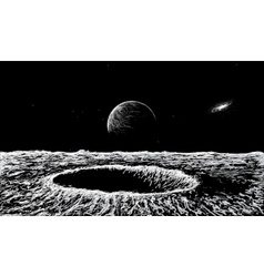 view on surface of the Moon vector image